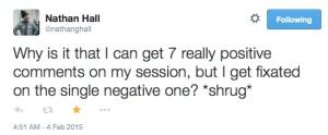 Nathan's tweet